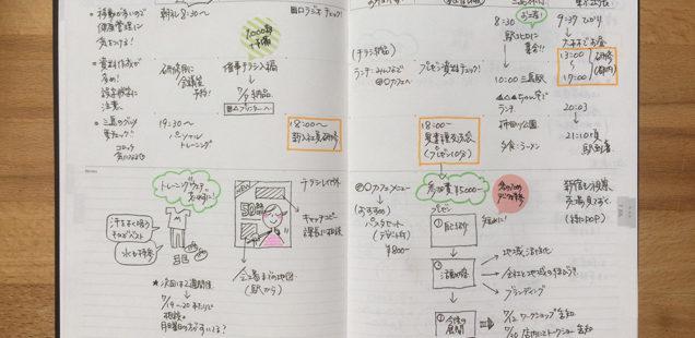 ざっくりバーチカル+メモが便利!EDiT「週間ノート」