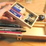 倉敷意匠ツールボックスで文房具を整理する